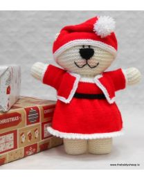Wooly Crew Mrs Claus Bear pattern