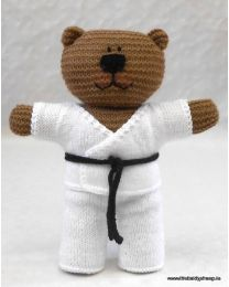 Wooly Crew Niko Karate Bear pattern