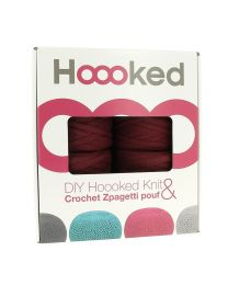 Hoooked Extreme Crochet Pouf Set in Maroon