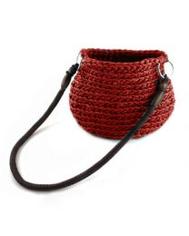 Hoooked Rimini Crochet Bag Kit Marsala Red